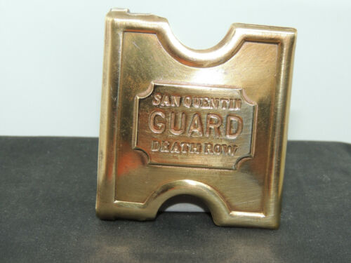 San Quentin Guard Death Row Buckle Brass (15108)