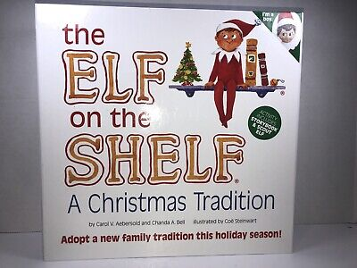 The Elf on the Shelf Christmas Book w/ Blue-eyed Boy Scout Elf Doll - NEW