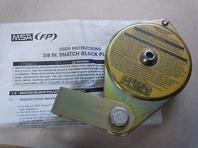 Msa506663 - Msa Replacement Snatch Block Pulley. New