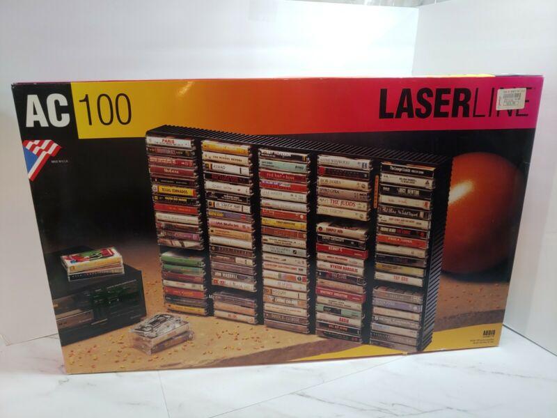 Laserline AC100 Black 100 Cassette Tape Wall Mount Plastic Storage Rack Shelf