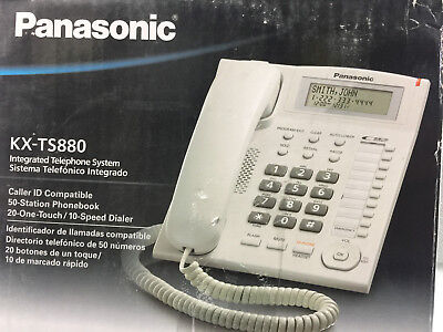 NEW Panasonic KX-TS880B Integrated Phone System w 10 One Touch Dialer -