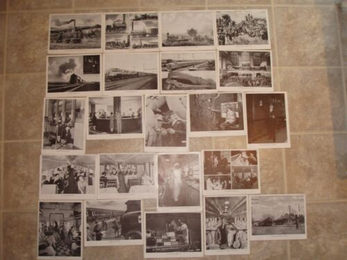 Vintage Train Photos B&W 56 x 8.5 x 11 inch prints