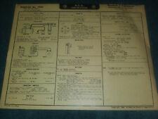 1950 PONTIAC 6-CYL WIRING DIAGRAM & TUNE-UP CHART / USEFUL ...