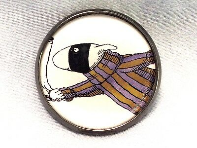 "1"" Edward Gorey Illustration Dog Burglar Literary Nonsense Book Sew Button EG72"