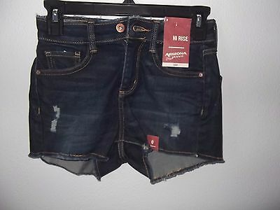 ARIZONA JEAN CO - TEEN - HIGH RISE SHORTS - DARK DENIM - SIZE 0  (AC-24-26)](Teen Booty Shorts)