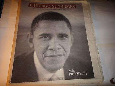 Chicago Sun Times Newspaper November 16  2008  Mr President