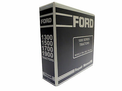 Ford 1300 1500 1700 1900 Tractor Service Manual Repair Shop Book New Wbinder