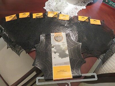 Midnight Market Halloween (Midnight Market Halloween Spiderweb Table Runner & 7 Spiderweb Placemats ALL)