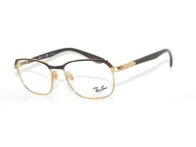 Ray Ban 6420 2917 Gold Brown 52  Eyeglasses Rayban (Cheap Ray Ban Glasses Sale)