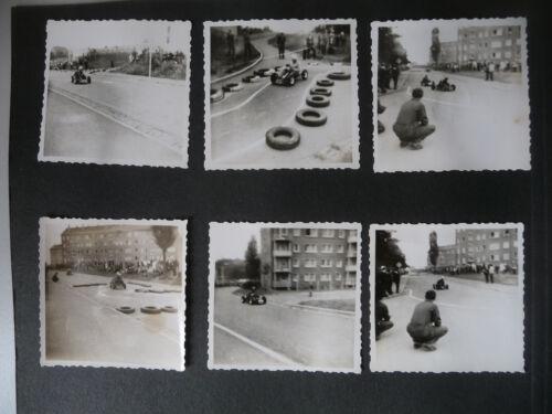 3 Albumseiten 28 Fotos K-Wagen Go-Kart-Rennen Werdau Sachsen 1968