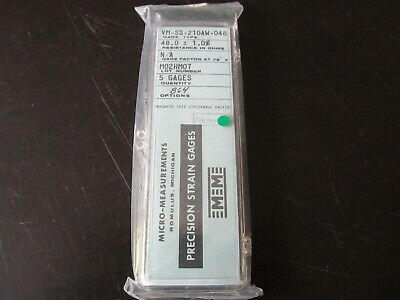 Vishay Micro Measurements Precision Strain Gage Vm-ss-210aw-048 Opt B64 5 Pack