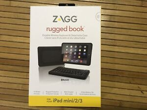 BRAND NEW ZAGG RUGGED BOOK KEYBOARD  FOR IPAD MINI 2/3