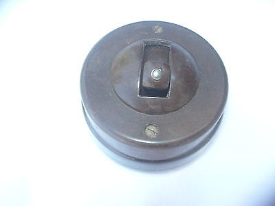 VINTAGE RECLAIMED BAKELITE & PORCELAIN  LIGHT SWITCH BY CRABTREE