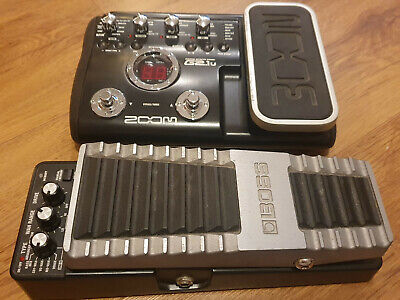 BOSS pw-10 wah pedal and Zoom G2.1u multi effect full working condition