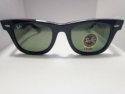 BRAND NEW Ray-Ban Original Wayfarer RB2140 901 Black Frame Green Lens (Ray Ban Green Frames)