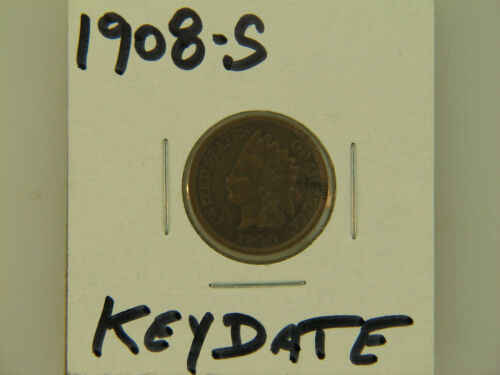 1908-S Indian Cent semi key