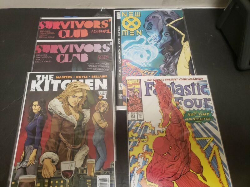 Fantastic Four #353 Marvel 1991 xmen 124 vertigo lot
