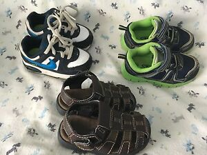 Three pairs of toddler boys size 6 shoes