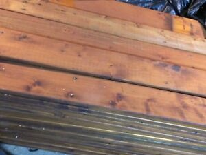 Beautiful Factory Stained Cedar Wood  1x6x10