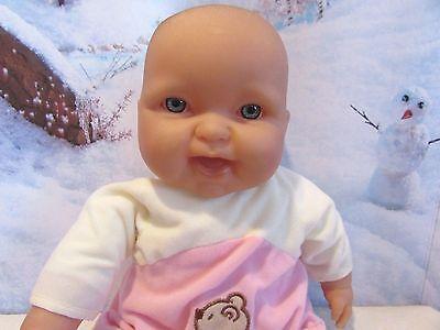 "BERENGUER BABIES 14"" BABY DOLL, SOFT BODY TEDDY BEAR HAPPY FACE"