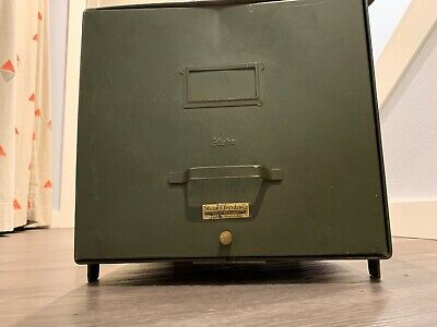 Vintage Green Metal File Cabinet Shaw Borden Co.