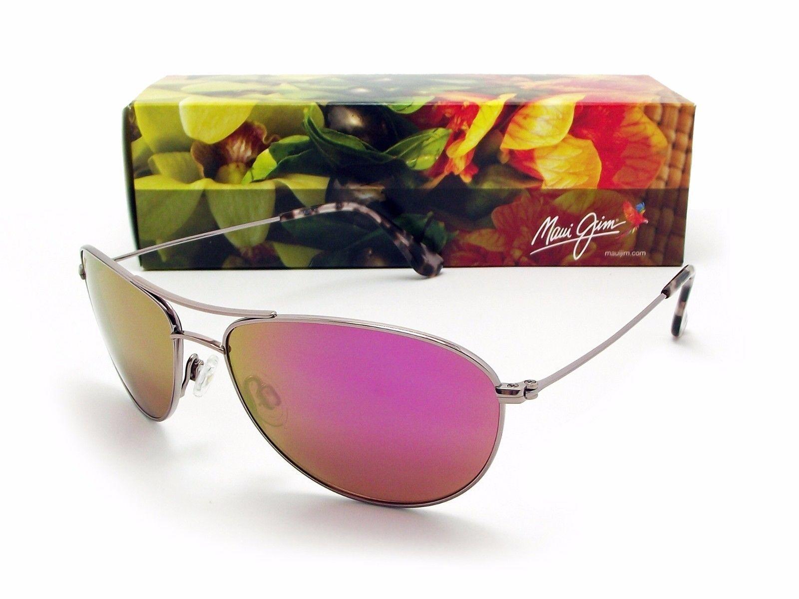 5186ef31ea1 Maui Jim Baby Beach 245 16pr Rose Gold   Pink Sunglasses for sale ...