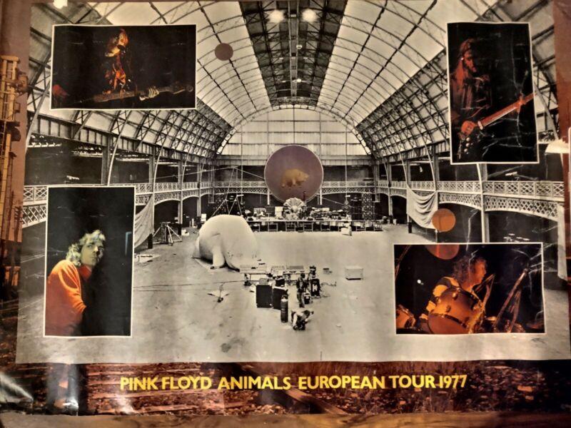 1977 Pink Floyd Animals Tour Poster Plus Ticket Stub