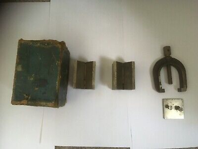 Eclipse No' 230 Set Matched Vee Block and Clamp Set. Boxed