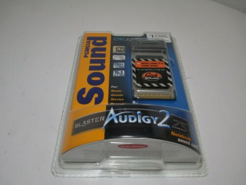 NEW CREATIVE SOUND BLASTER AUDIGY 2 ZS NOTEBOOK SOUND CARD PCMCIA