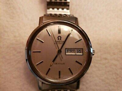Vintage Omega DeVille Day & Date Automatic Men's Wristwatch