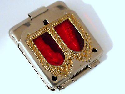 Antike Aufbewahrungsschatulle Metall -2- herausnehm.Schutzheilige-Taschenformat