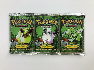 WOTC Pokemon Jungle 1st Edition 3 Booster Pack ART SET (Flareon, Scyther, Wiggly