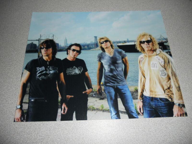 Jon Bon Jovi Group Band Promo 8x10 Photo #1 Concert