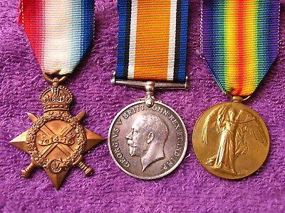 BRITISH WW1 GS/13077 PTE GEORGE W GIBSON 6th DRAGOON GAURDS MEDALS