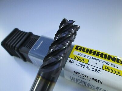 New Guhring Solid Carbide 12 Roughing 45 Degree End Mill Milling Rougher Tool