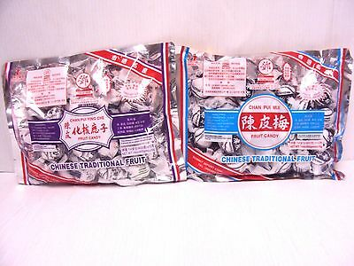 - Pack 2 Tang Hoi Moon Kee Chan Pui Ying Che/Mui Preserved Plum Snack Hong Kong