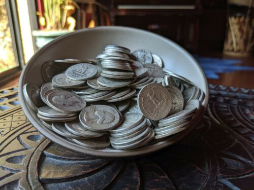 1 One Troy Pound 90% Silver Washington Quarters *FULL DATE*  Survival Silver Lot
