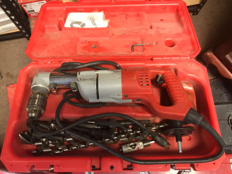 """Milwaukee 1107-1 HD Heavy Duty Corded 1/2"""" Half Inch Two Speed Right Angle Drill"""