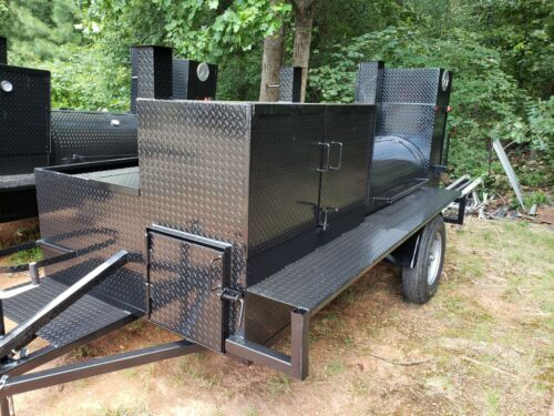 HogZilla BBQ Smoker Cooker Grill Clean out Trailer Food Truck Catering Business