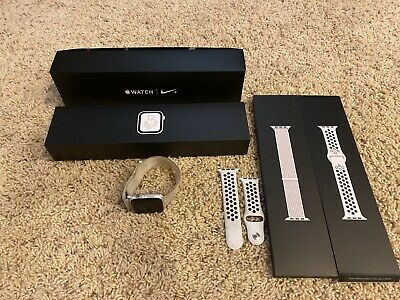 Apple Watch Series 4 Nike+ 44 mm Silver Aluminum Case with Summit White Nike...