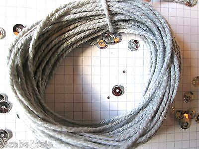 10/20/30mt of 2mm Thick Silver Grey Cotton Solid colour  Bakers Twine