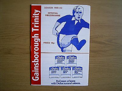 GAINSBOROUGH TRINITY v GATESHEAD Northern Premier League Cup 1981-82