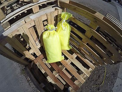 (10) POLYPROPYLENE SACKS BUILDERS RUBBLE SAND BAGS (HI VIZ COLOUR)