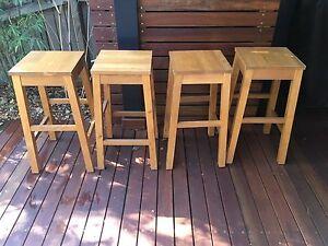 Kitchen/Bar stools x 4 timber Mosman Mosman Area Preview