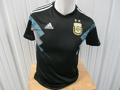 ADIDAS ARGENTINA NATIONAL FOOTBALL TEAM SMALL SEWN JERSEY 2018/19 PREOWNED image
