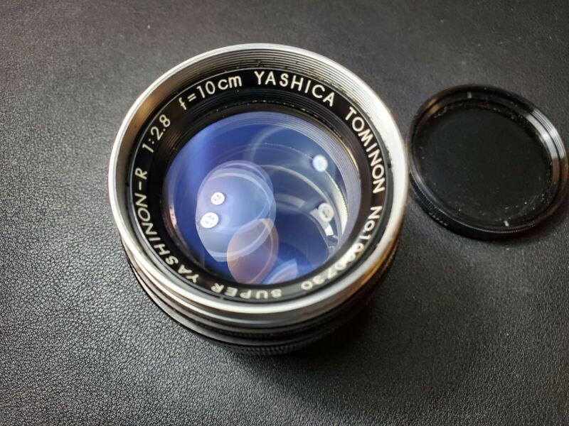 YASHICA 10cm 100mm F2.8 TOMINON LENS SUPER YASHINON-R