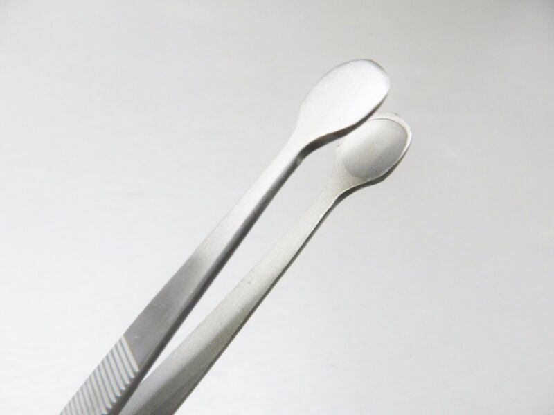 Tweezers Bead & Pearl Holding Large Tips 10mm Hollow Wide Round Shape Stainless