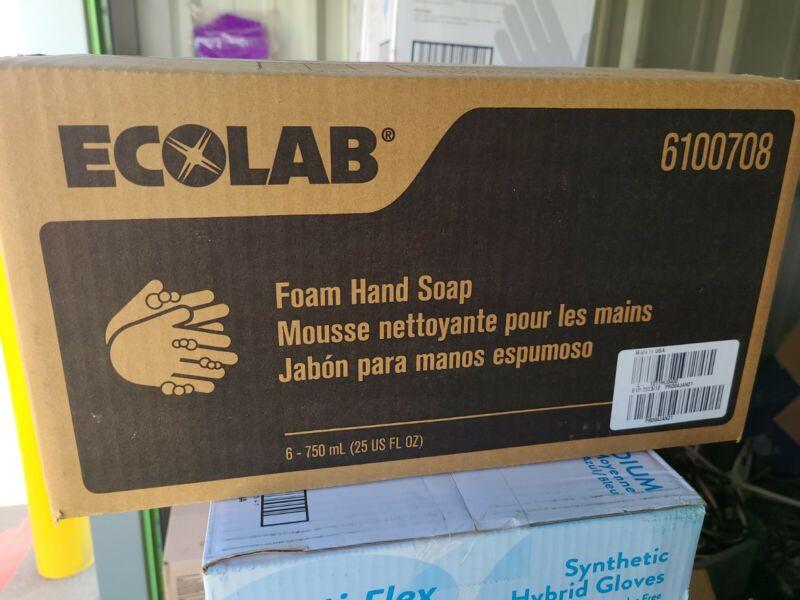 CASE OF ECOLAB 6100708 Foam Hand Soap- 750 ML