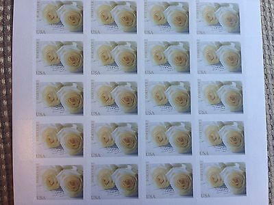 Wedding Roses Forever US Postage Stamps Sheet of 20 stamps