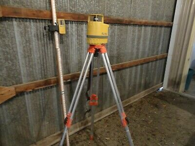 Topcon Rl-hb Rotating Laser Level Receiver Tripod And Target Stick